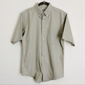 TravelSmith 100% Cotton Khaki Shirt Size M